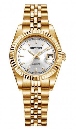 นาฬิกาผู้หญิง Rhythm รุ่น R1203S05, Traditional Oyster Sapphire Gold R1203S 05, R1203S-05