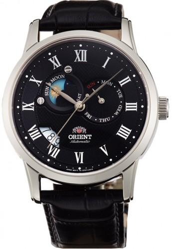นาฬิกาผู้ชาย Orient รุ่น SET0T002B0, Automatic Sun And Moon Collection Japan