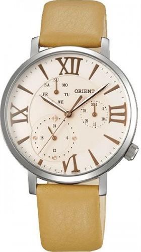 นาฬิกาข้อมือผู้หญิง Orient รุ่น SUT0E004S0, Quartz Japan Multi-Dial Elegant Leather
