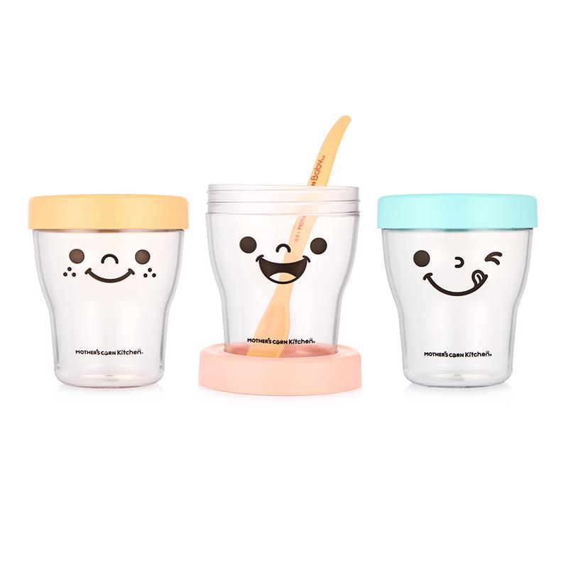 ชุดถ้วยแช่แข็งและบรรจุอาหารจากข้าวโพดปลอดสารพิษ Mother's Corn Kitchen Petit Smart Ecotainer Set