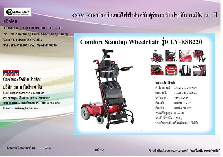 วีลแชร์ COMFORT รุ่น LY-ESB220