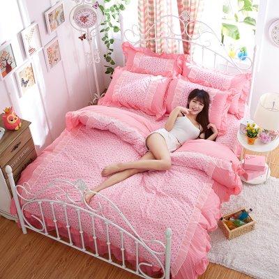 ชุดผ้าปูที่นอนเจ้าหญิง ลูกไม้ SD3211-1 ขนาด 6 ฟุต