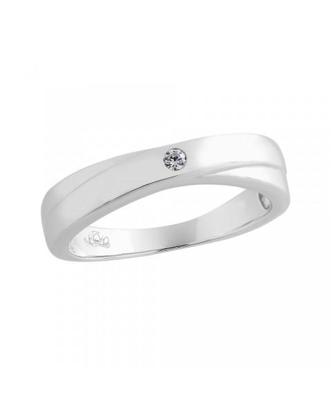 แหวนคู่เงินแท้ ชุบทองคำขาวแท้