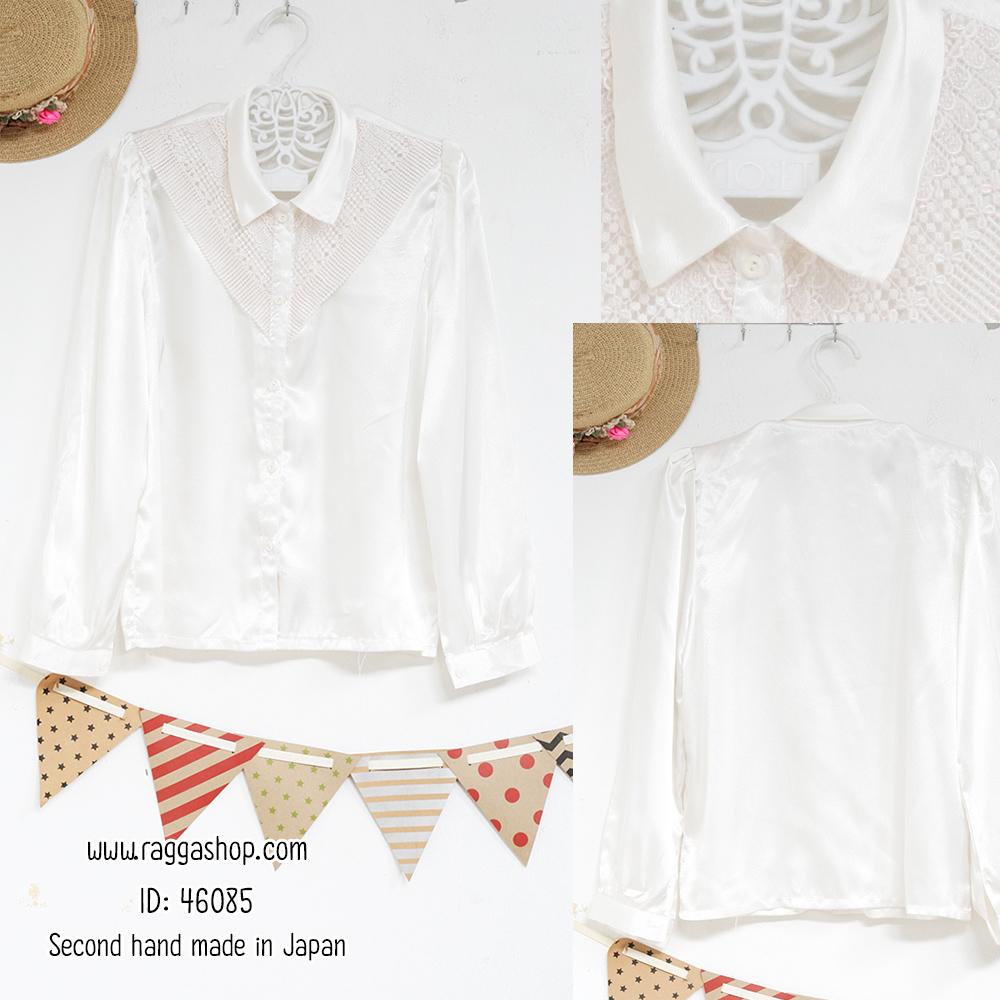 46085 อก40 เสื้อสีขาว(id 6119 จองคะ)
