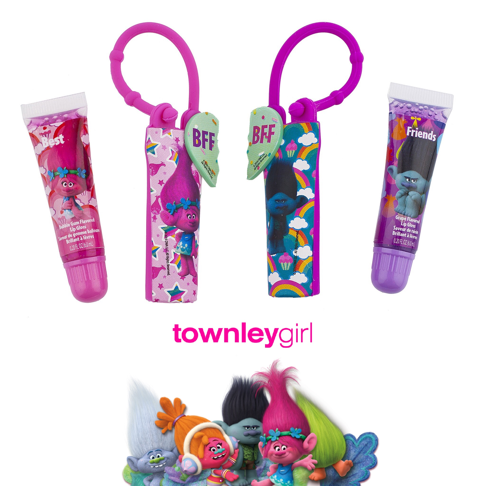 ชุดลิปกลอสปลอดสารพิษสำหรับเด็ก Townleygirl Trolls BFF Lip Gloss Set