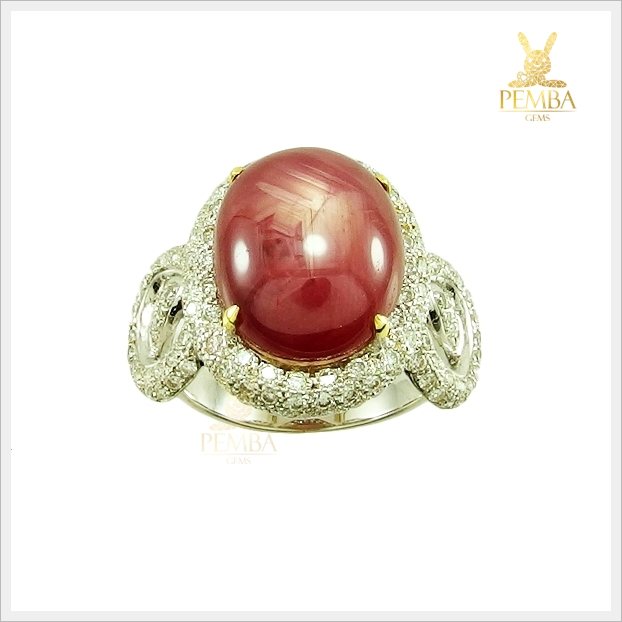 แหวนทับทิมหลังเบี้ย ทองแท้ เพชรแท้ ดีไซน์สวยเก๋(สามารถสั่งทำได้ค่ะ)