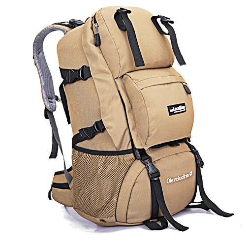 NL15 กระเป๋าเดินทางเสริมโครง สีกากี ขนาดจุสัมภาระ 42 ลิตร