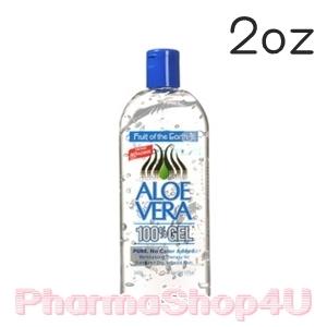 Fruit of the Earth Aloe Vera 100% Gel 56g (2oz) เจลว่านหางจระเข้บริสุทธิ์ เย็นสดชื่น ช่วยให้ผิวผ่อนคลาย เก็บกักความชุ่มชื้น ฟื้นฟูผิวจากความเสียหาย