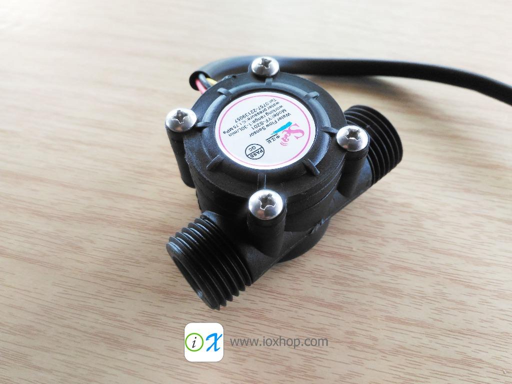 Water flow sensor flowmeter 1-30L/min 2.0MPa