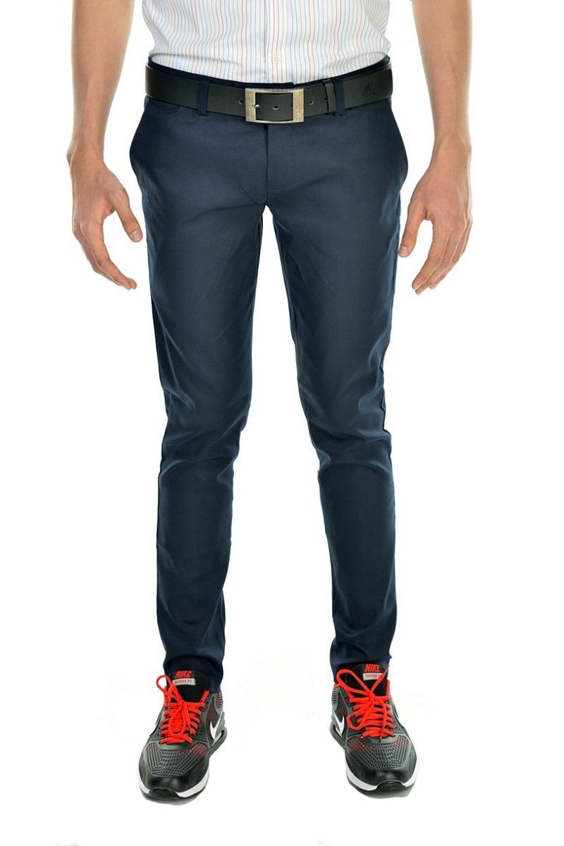 กางเกงสแล็คผู้ชายสีกรมท่า ผ้ายืด ขาเดฟ