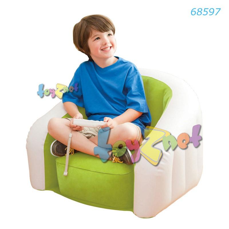 Intex เก้าอี้เด็กเป่าลม จูเนียร์คาเฟ่คลับ สีเขียว รุ่น 68597GR