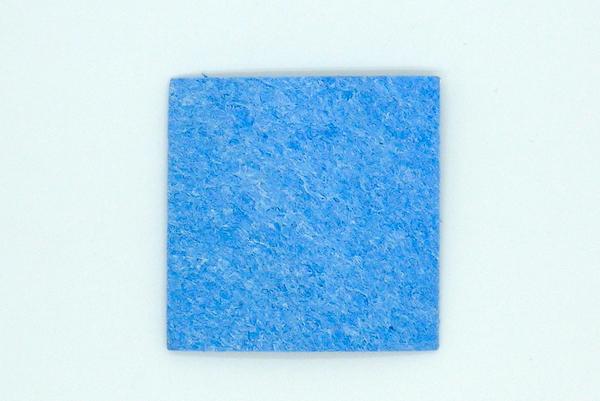แผ่นเช็ดปลายหัวแร้ง Tip Cleaner Blue 6cmx6cm