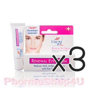 (ซื้อ3 ราคาพิเศษ) Vin21 Renewal Eye Serum 7mL วิน21 รีนิววอล อาย ซีรั่ม ช่วยลดถุงใต้ตา รอยดำคล้ำและริ้วรอยรอบดวงตา