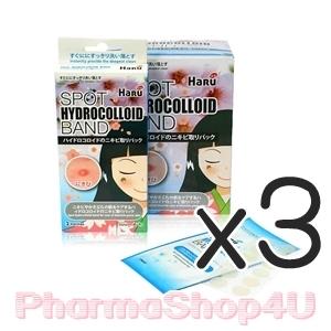 (ซื้อ3 ราคาพิเศษ) Haru Spot hydrocolloidband 1 กล่อง(3 แผง) แผ่นแปะสิว ดูดหนอง บางเบา แผ่นเล็ก ลดสิวอักเสบ