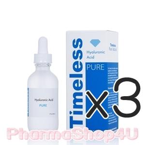(ซื้อ3 ราคาพิเศษ) Timeless Hyaluronic Acid Pure 30mL ไฮยารูลอนเข้มข้น เติมความชุ่มชื่นและกักเก็บน้ำภายในผิว ปราศจากสารกันเสีย ซึมซาบสู่ผิวได้ดี ไม่เหนียวเหนอะหนะ เพื่อการบำรุงที่ง่ายและทรงพลัง