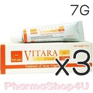 (ซื้อ3 ราคาพิเศษ) VITARA Clinda-Gel 7g เจลใสแต้มสิว ดีกว่าแบบน้ำ ช่วยลดการอักเสบของสิว และป้องกันการเกิดรอยดำ