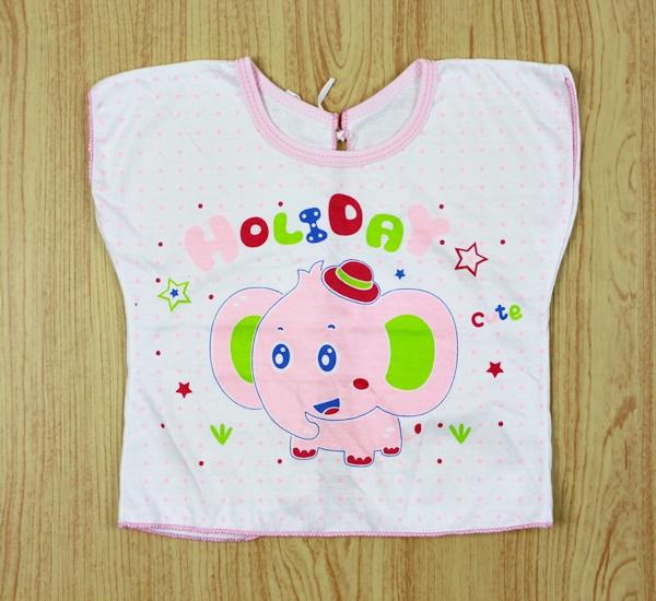 เสื้อผูกหลังเด็กคอตตอน (ลายเปลี่ยนตามรอบการผลิต )