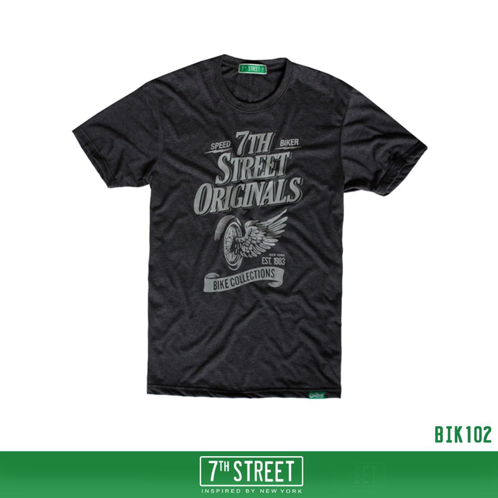 เสื้อยืด 7TH STREET - รุ่น Bike | Top dry Black