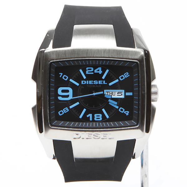 นาฬิกาข้อมือ ดีเซล Diesel Bugout Blue Accent Black Silicone Mens Watch รุ่น DZ4287