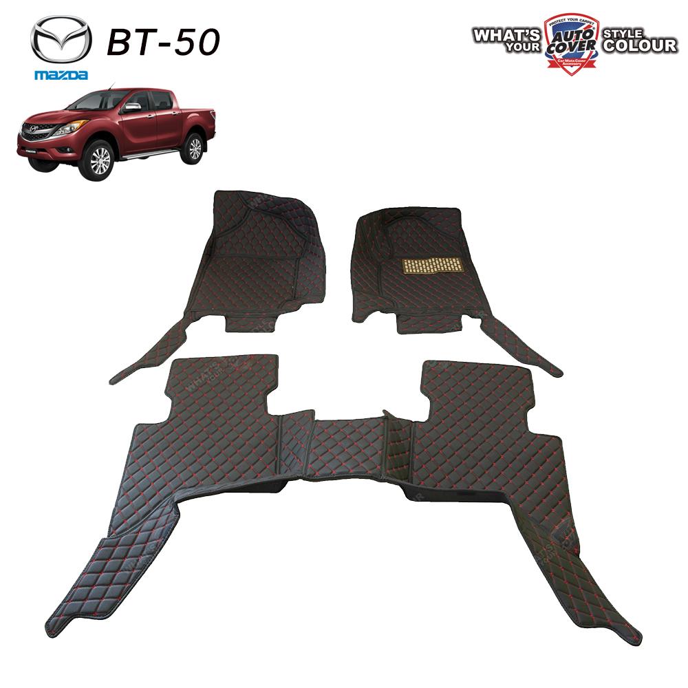 พรมเข้ารูป 6 D Leather Car Mat จำนวน 3 ชิ้น MAZDA BT-50 PRO 4 DOOR 2012-2017