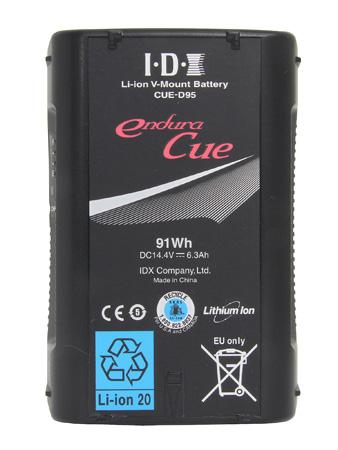 IDX CUE-D95 91Wh Li-ion V-Mount Battery with D-Tap output