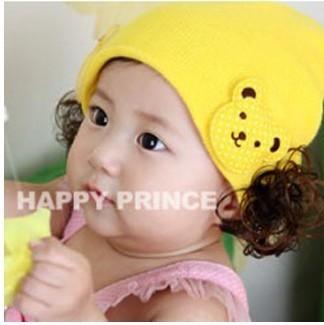 หมวกปอยผม-แต่งตุ๊กตาหมี 2 ข้าง