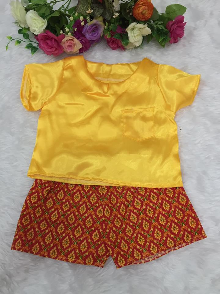 ชุดไทยเด็กชาย-สีเหลือง