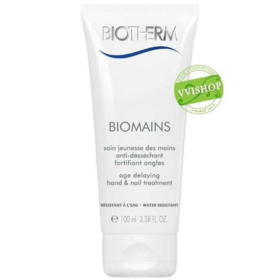 Biotherm Biomains Age Delaying Hand & Nail Treatment 100 ml. ทรีตเม้นต์ชะลอความร่วงโรยของผิวมือและเล็บ ผสานสารปกป้องจากรังสียูวี *ลดพิเศษ 35%*