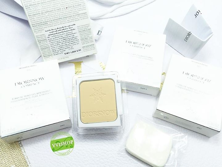 DiorSnow Compact White Reveal Pure and Perfect Transparency Makeup SPF 30 PA+++ (Refill) # 010 : สำหรับผิวขาวเหลือง *ลดพิเศษ 35 %