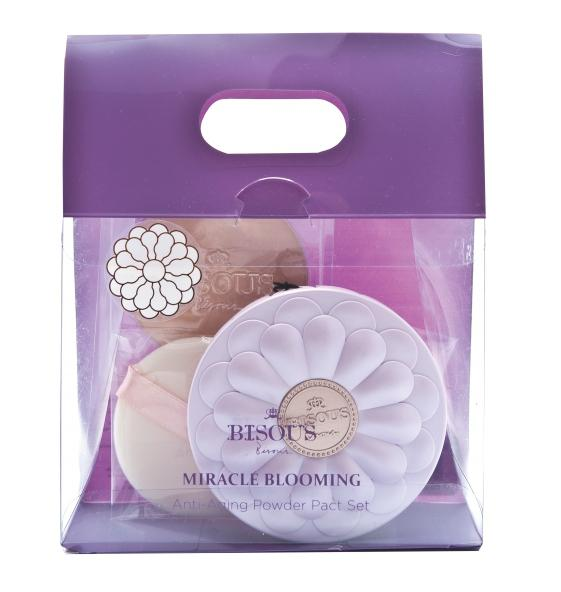 Bisous Bisous Miracle Blooming Anti-Aging Powder Pact Set #2 สำหรับผิวสองสี