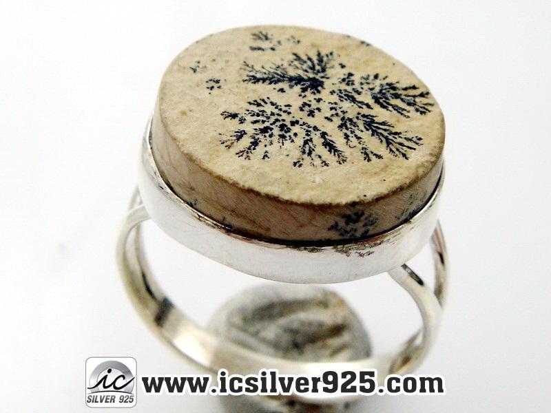 ▽เดนไดทริก ( Dendritic) แหวนเงินแท้ 925 (แหวนเบอร์ : 59)