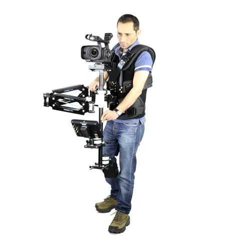FLYCAM 6000 Camera Steadycam with Magic Arm-FM and PV-7900 DSLR Body Vest Supporting Cameras weighing upto 10kg/22lbs