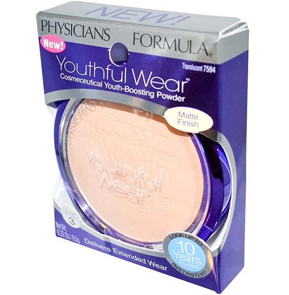 Physicians Formula Youthful Wear Cosmeceutical Youth-Boosting Powder #Matte Finish Translucent แป้งหน้าเด็ก เนื้อแมทท์ ใช้ได้ทุกสีผิว