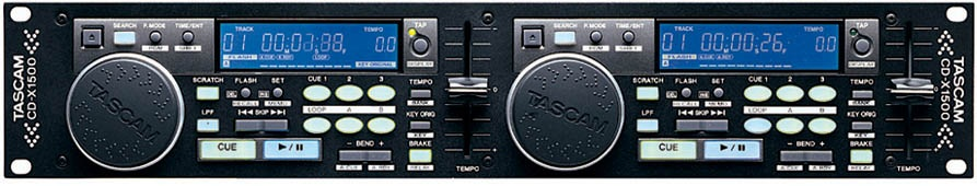 TASCAM CD-X1500 Twin CD Player for DJ