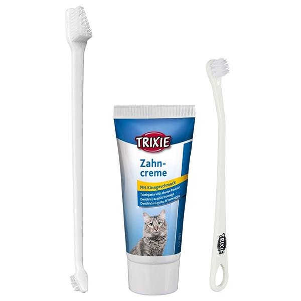 ยาสีฟันและแปรงสีฟันแมว Trixie