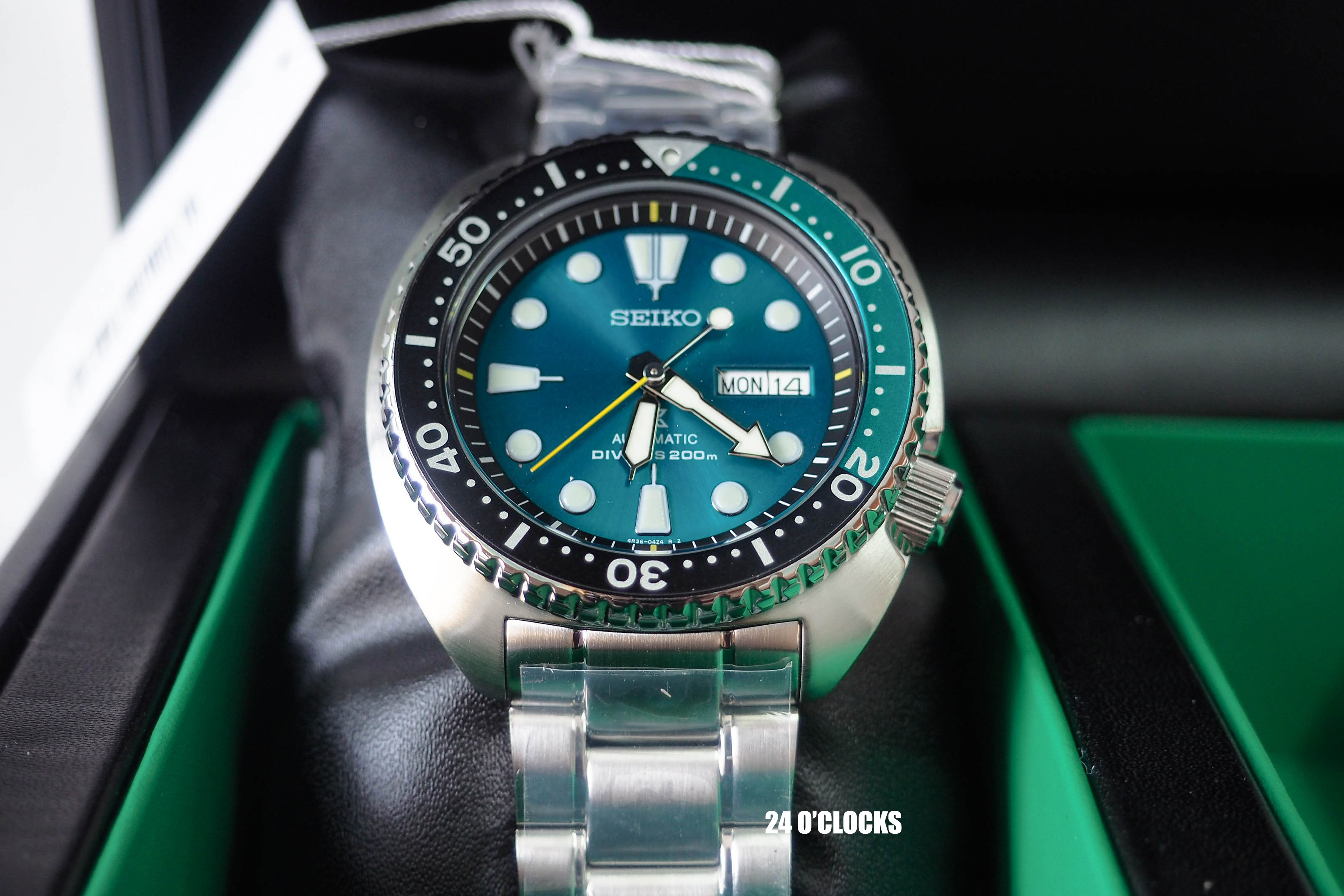 Emerald Green Turtle Limited Edition Srpb01k1 24oclock Inspired Seiko Srpb01