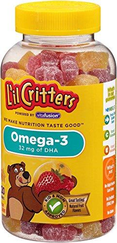 วิตามีนเยลลี่หมีสำหรับเด็กLil Critters Omega-3 Gummy Fish ขนาด 120 เม็ด ++ พร้อมส่ง++ EXP 05/2018