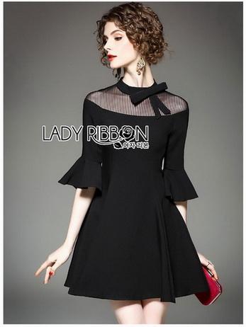 Lady Ribbon เดรสสีดำแต่งริบบิ้น