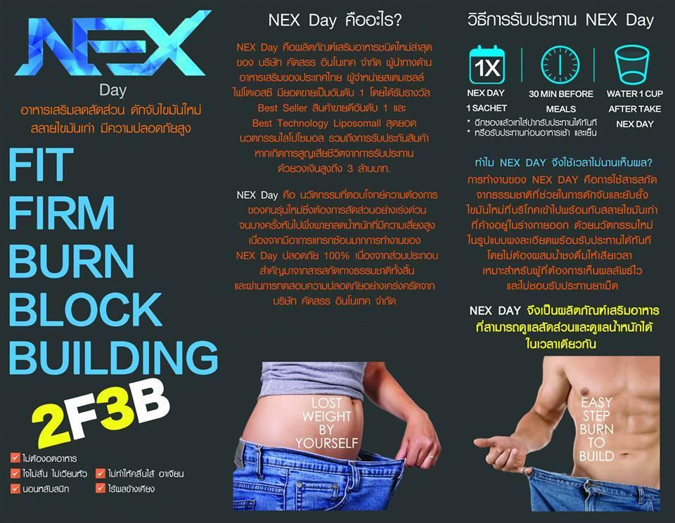 Nex Day เน็กซ์เดย์ ลดน้ำหนัก นวัตกรรมใหม่