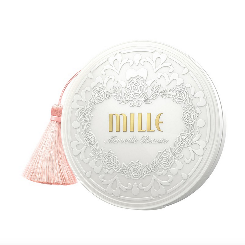 Mille Super Whitening Rose Powder Pact SPF48 PA++