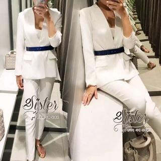 2Sister Made, White Premium Deluxe Korea Set เซ็ตเสื้อ+กางเกง