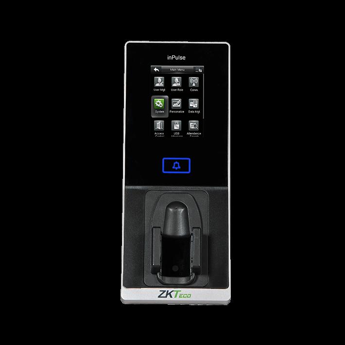 เครื่องแสกนลายนิ้วมือเส้นเลือดดำ แสกนลายนิ้วมือ รองรับการ์ด สามารถควบคุมประตูได้ ยี่ห้อ ZKTECO รุ่น ZK-inpulse+มี License