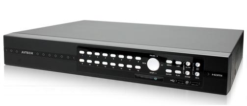 เครื่องบันทึก IP/AHD/TVI/960H 16 CH DVR QUADBRID 1080P AVTECH รุ่น AVZ316