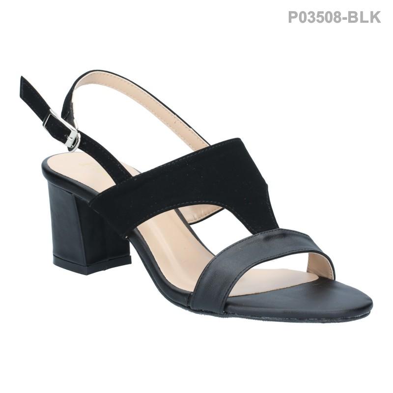 ลดล้างสต๊อก รองเท้าส้นเตี้ย P03508-BLK [สีดำ]