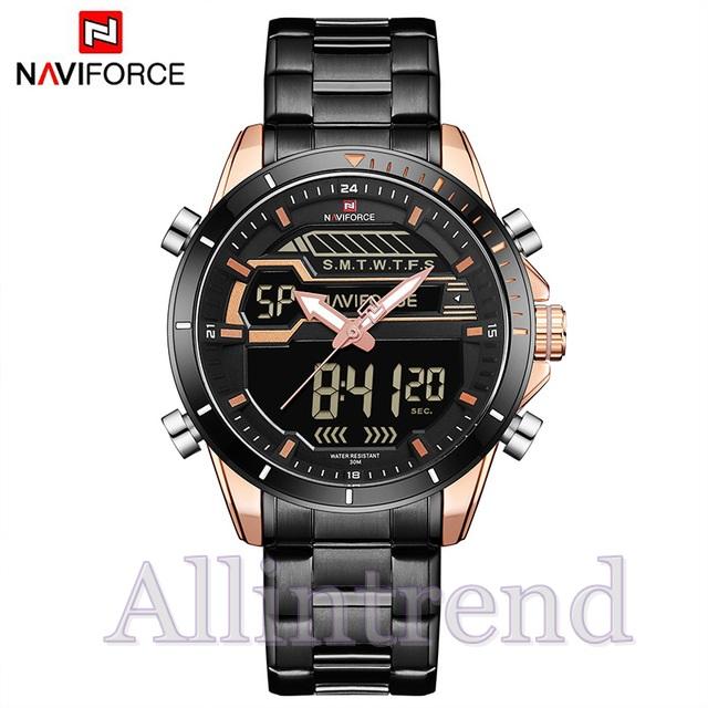 นาฬิกา Naviforce รุ่น NF9133M สีทองชมพู สายสีดำ ของแท้ รับประกันศูนย์ 1 ปี ส่งพร้อมกล่อง และใบรับประกันศูนย์ ราคาถูกที่สุด