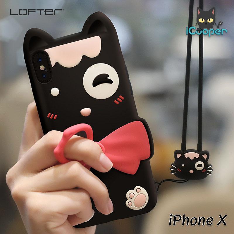 LOFTER Soft Silicone - Black Cat (iPhoneX)