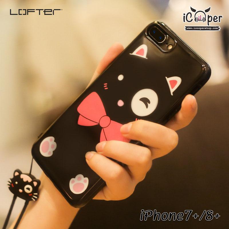 LOFTER Lovely Cat - Black (iPhone7+/8+)