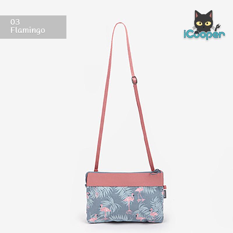 RONG.SHI.DAI Double Cross Bag (Flamingo)