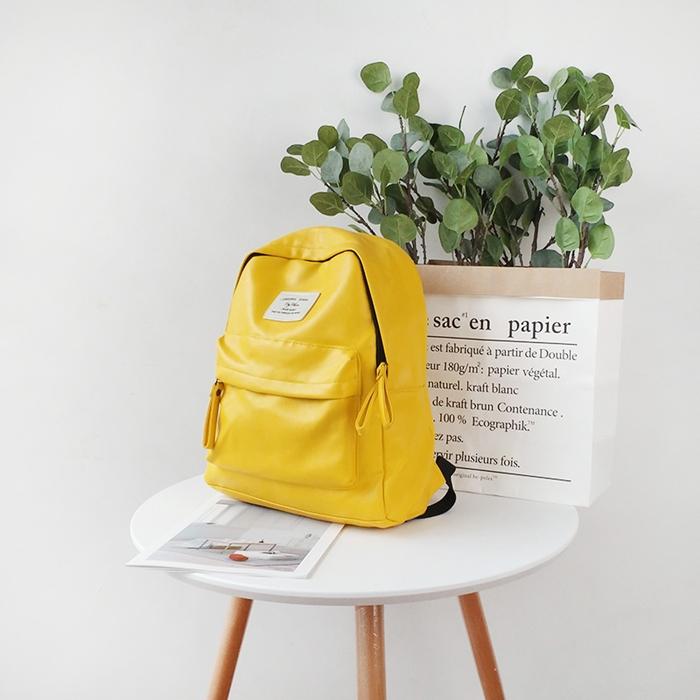 กระเป๋าเป้หนัง PU หนังนิ่ม (มีให้เลือก 4 สี)