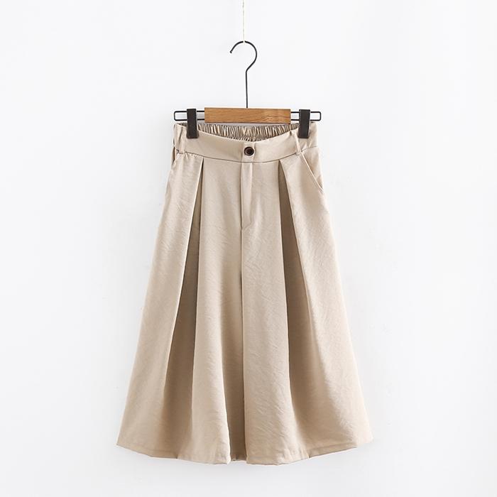 กางเกงชีฟองขาบาน เอวยืด (มีให้เลือก 4 สี)